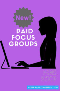 New Paid Focus Groups for 2019